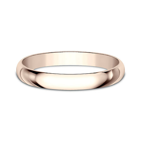 Womens 2.5mm 14K Rose Gold Wedding Band, 8 , No Color Family