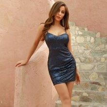 DKRX Figurbetontes Cami Kleid mit Pailletten