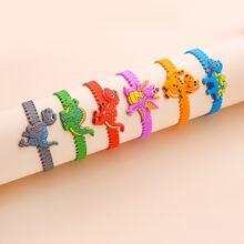 6 Stuecke Kinder Armband mit Dinosaurier Dekor