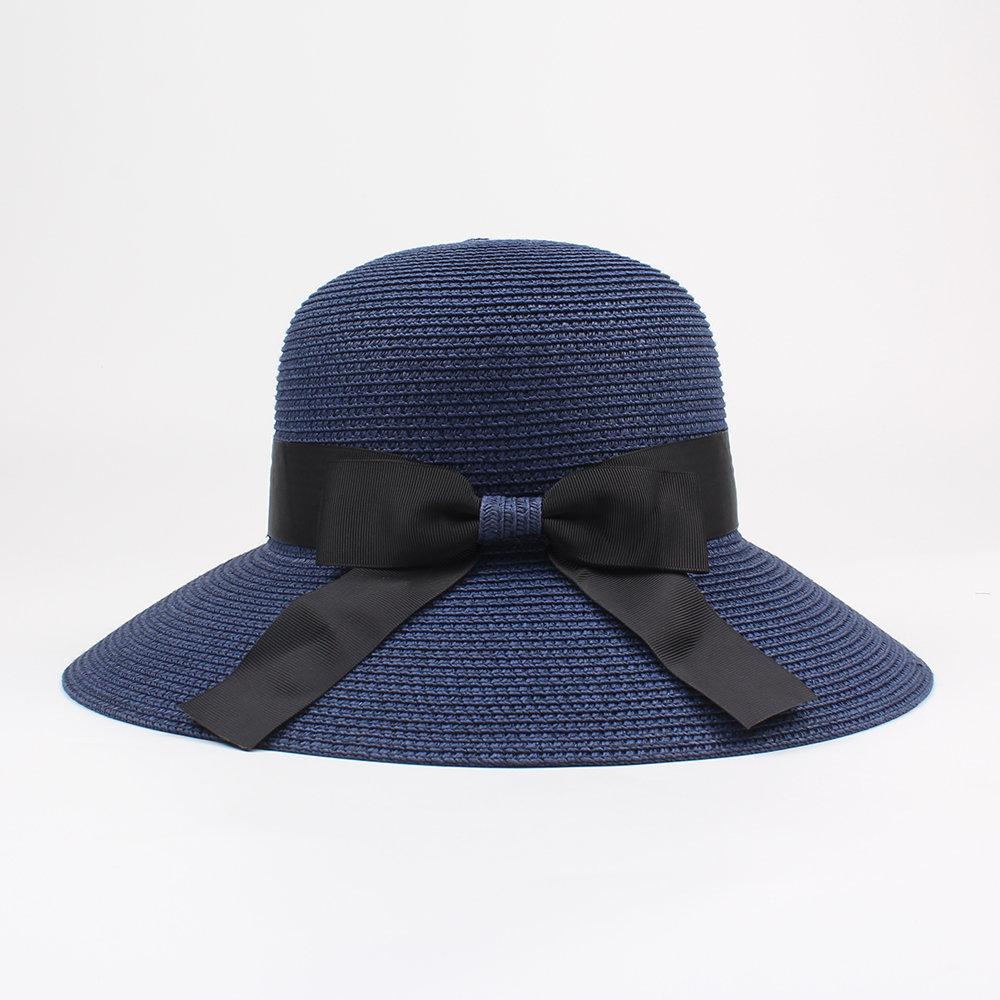 Women Summer Straw Wide Brim Straw Hat Casual Sunscreen Visor Beach Sun Hats