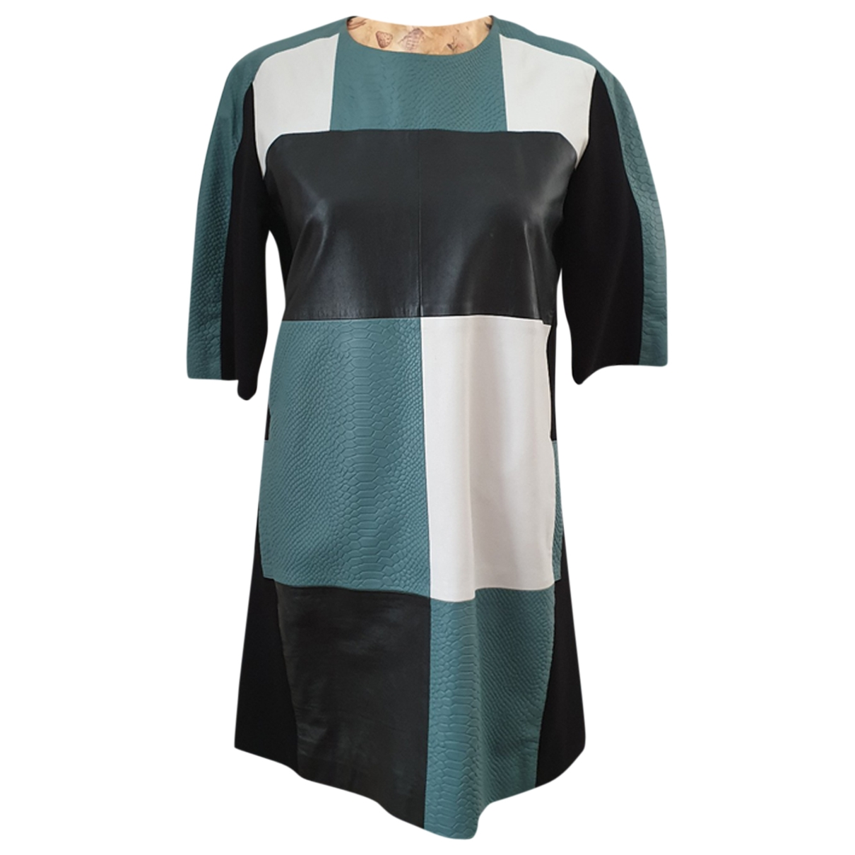 Max & Co \N Green Leather dress for Women 40 IT