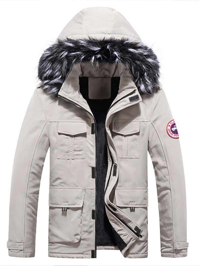 Ericdress Standard Appliques European Zipper Down Jacket