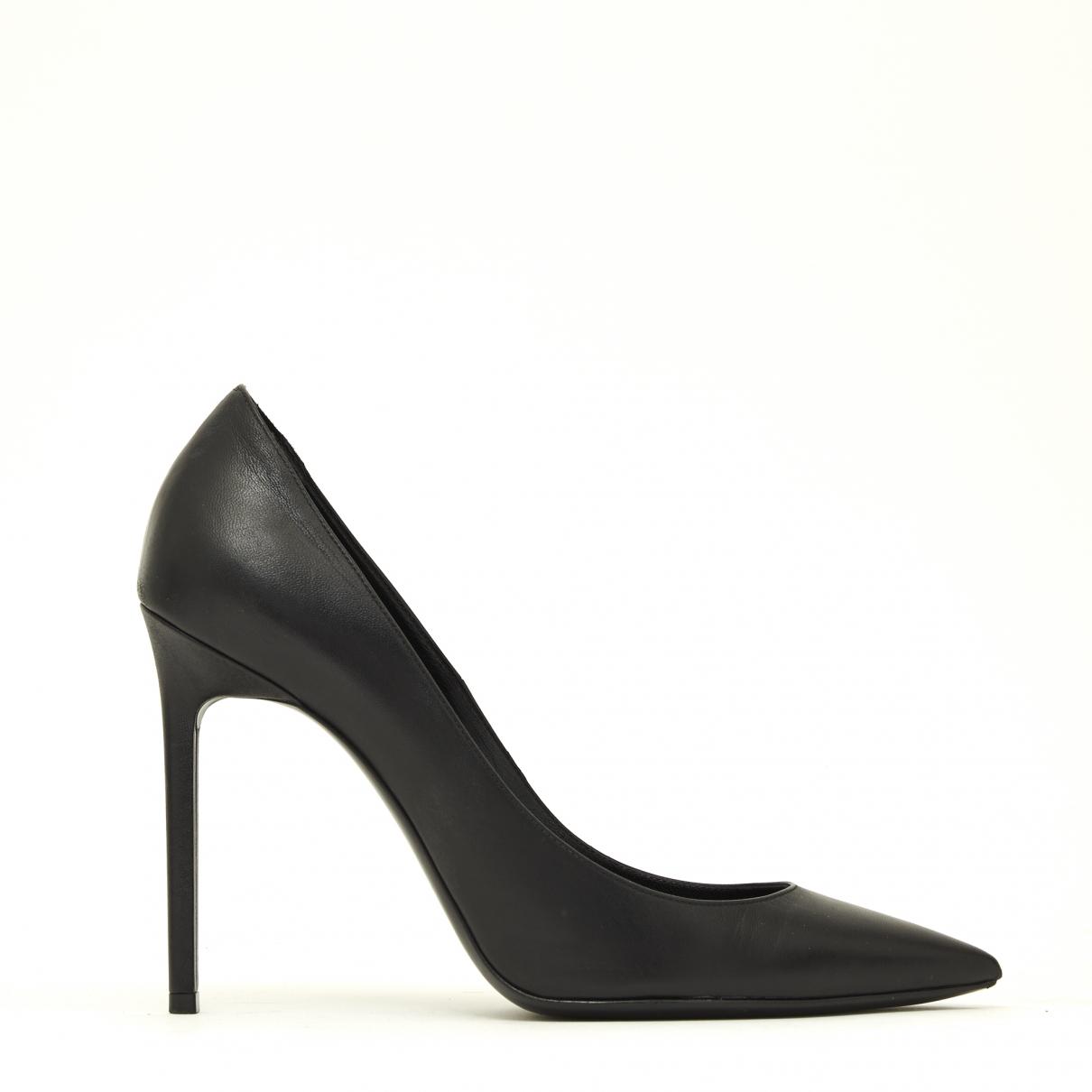 Saint Laurent Zoe Black Leather Heels for Women 40 EU
