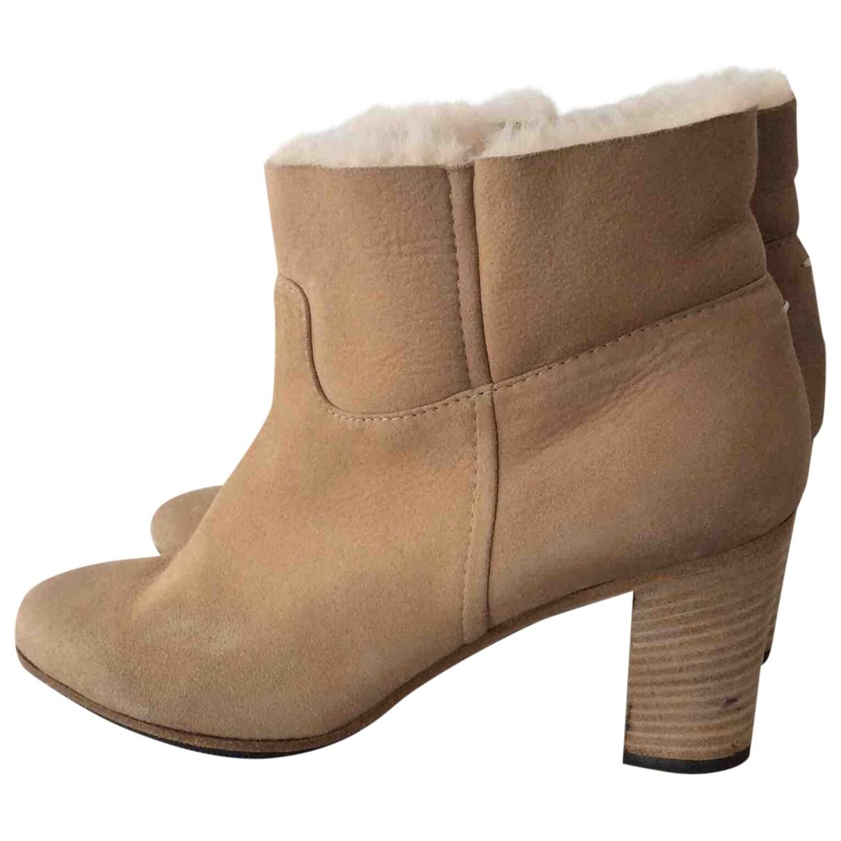Maison Martin Margiela - Boots   pour femme en mouton - beige