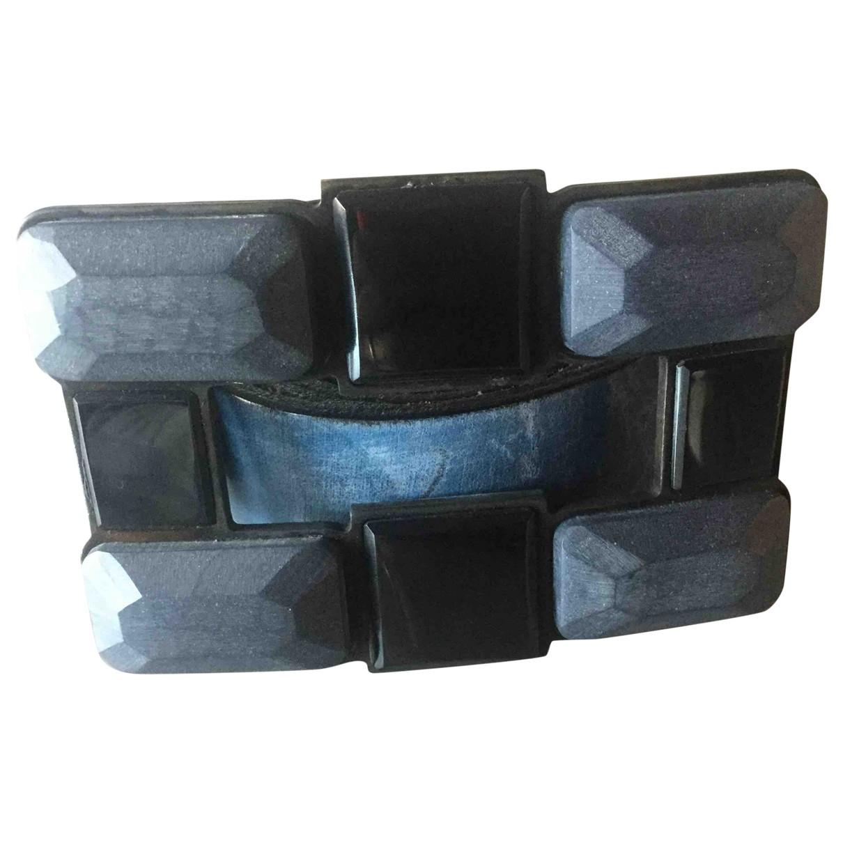 Maliparmi N Blue Leather belt for Women 85 cm