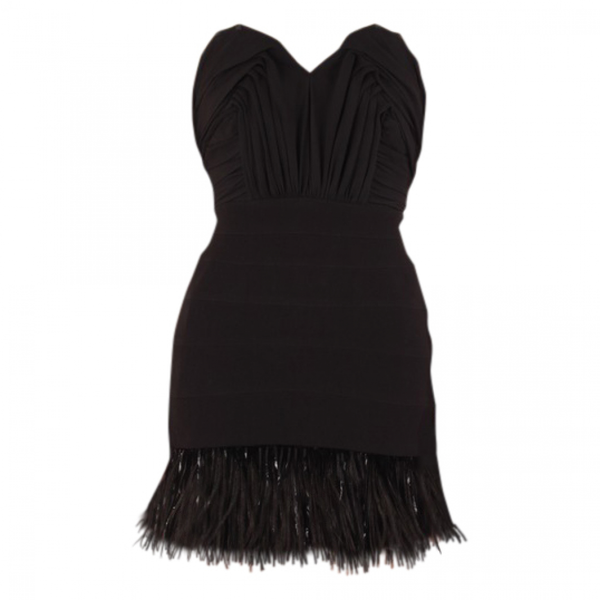 Balmain \N Black Cotton dress for Women 36 FR