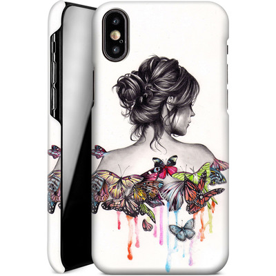 Apple iPhone X Smartphone Huelle - Butterfly Effect von Kate Powell