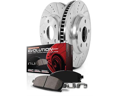 Power Stop K6065 Drilled & Slotted Brake Kit Front & Rear K6065