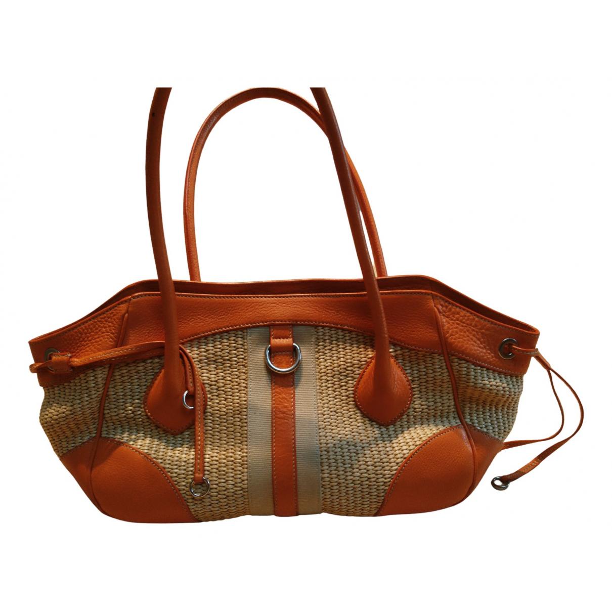 Prada \N Orange Wicker handbag for Women \N