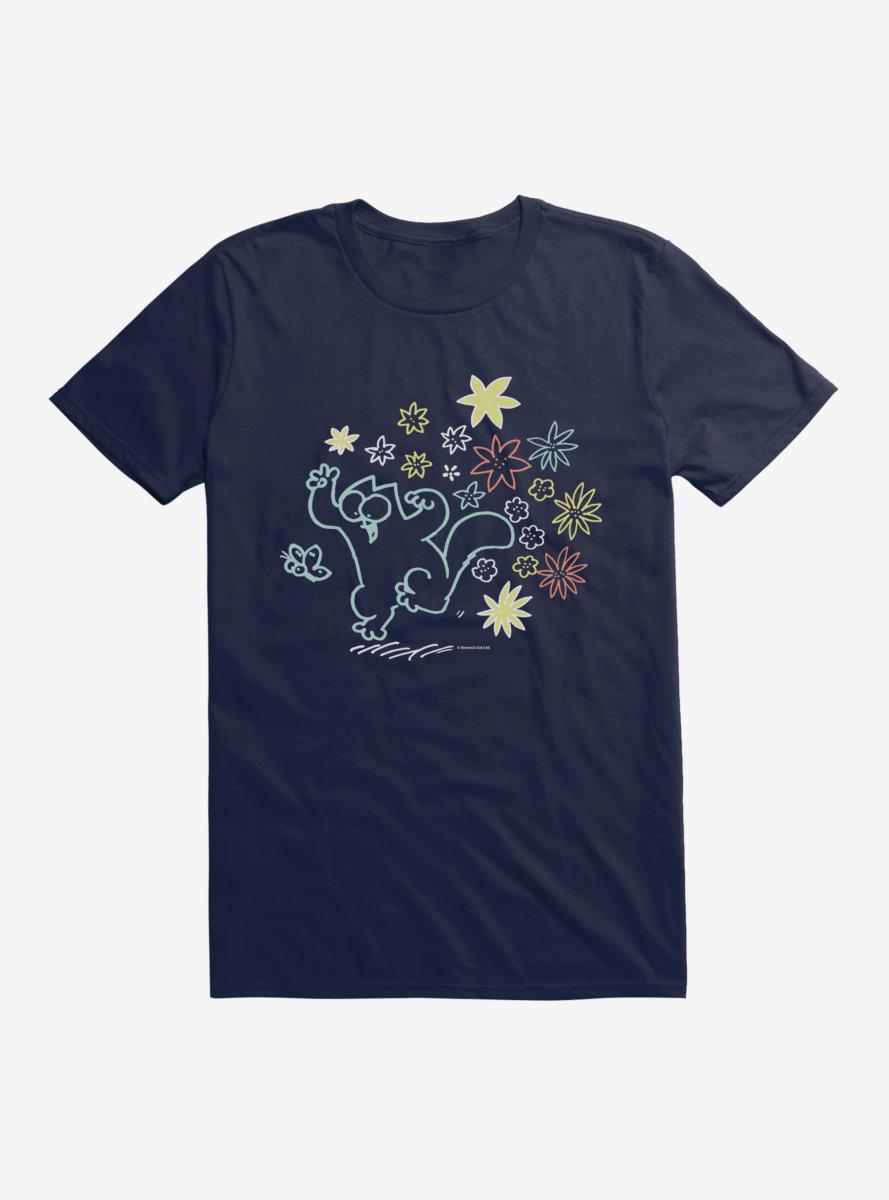Simon's Cat Chasing Butterflies T-Shirt