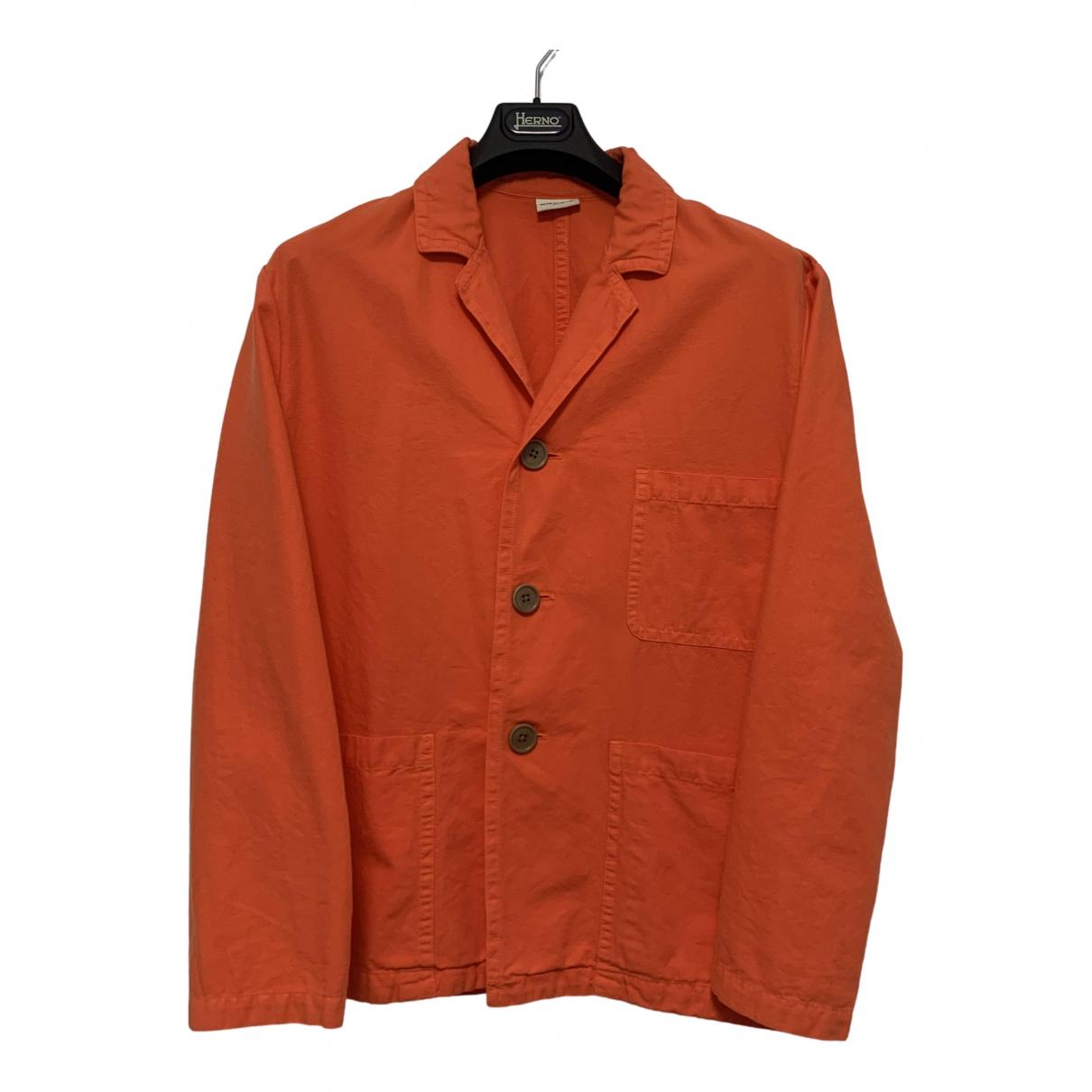Dries Van Noten \N Jacke in  Orange Baumwolle