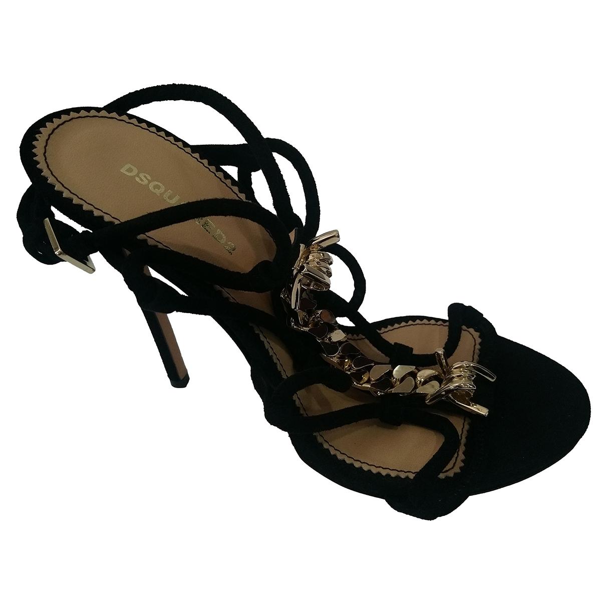 Dsquared2 - Sandales   pour femme en suede - noir