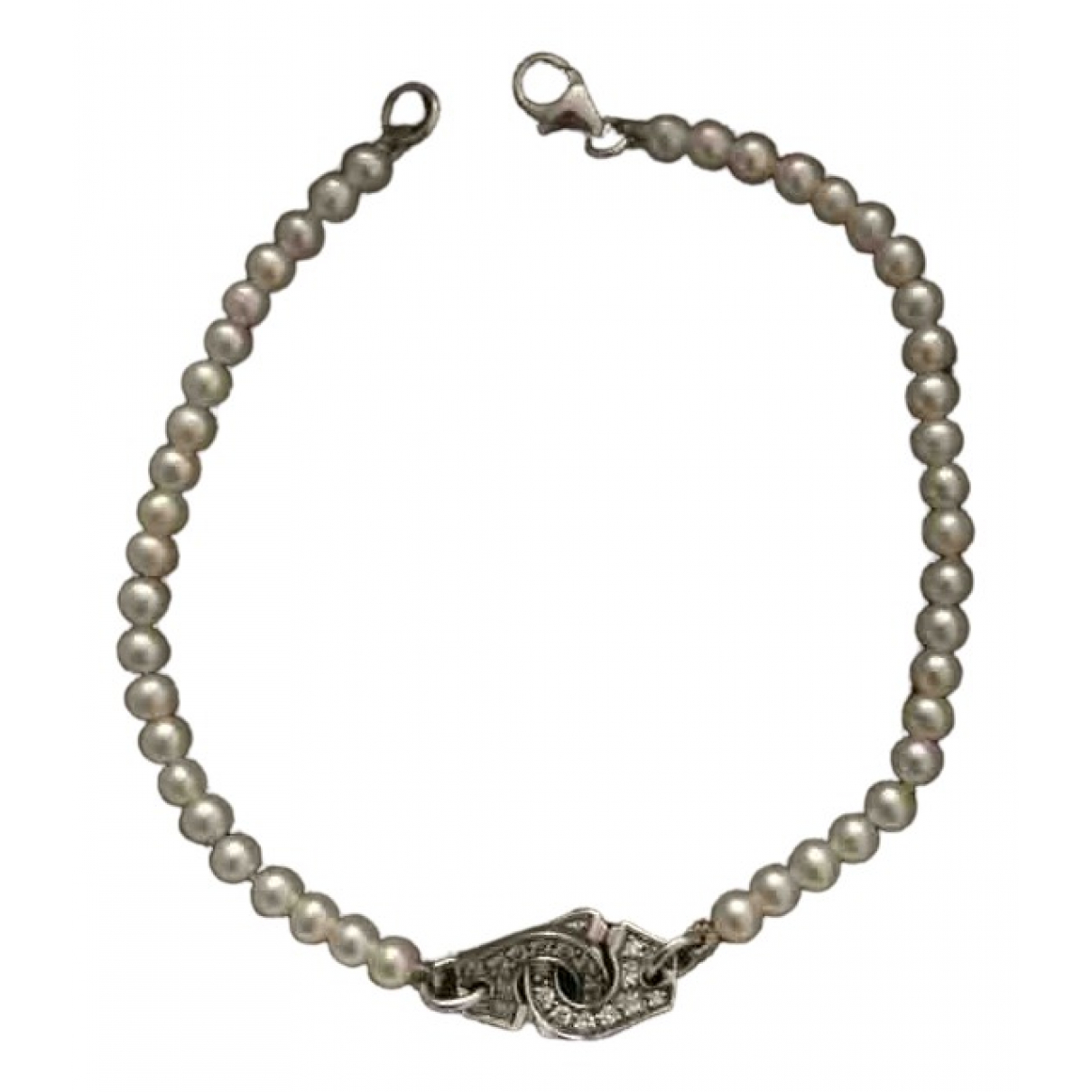 Dinh Van Menottes  Armband in  Weiss Weissgold