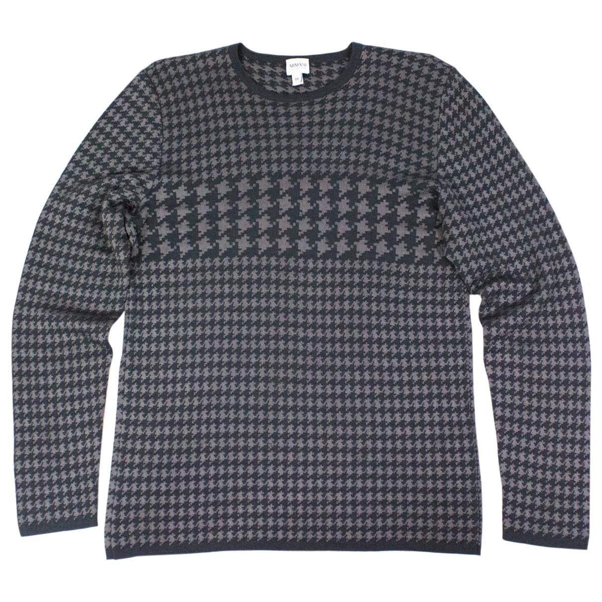 Armani Collezioni \N Pullover.Westen.Sweatshirts  in  Grau Wolle