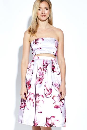Yoins Sexy Off Shoulder Random Floral Print Midi Dress
