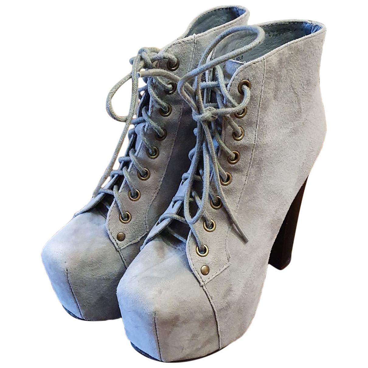 Jeffrey Campbell - Boots   pour femme en suede - gris