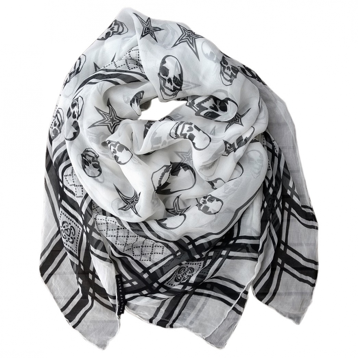 Philipp Plein - Foulard   pour femme en soie - blanc