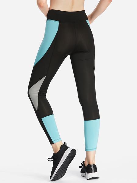 Yoins Black Splicing Fashion Women Yoga Pants