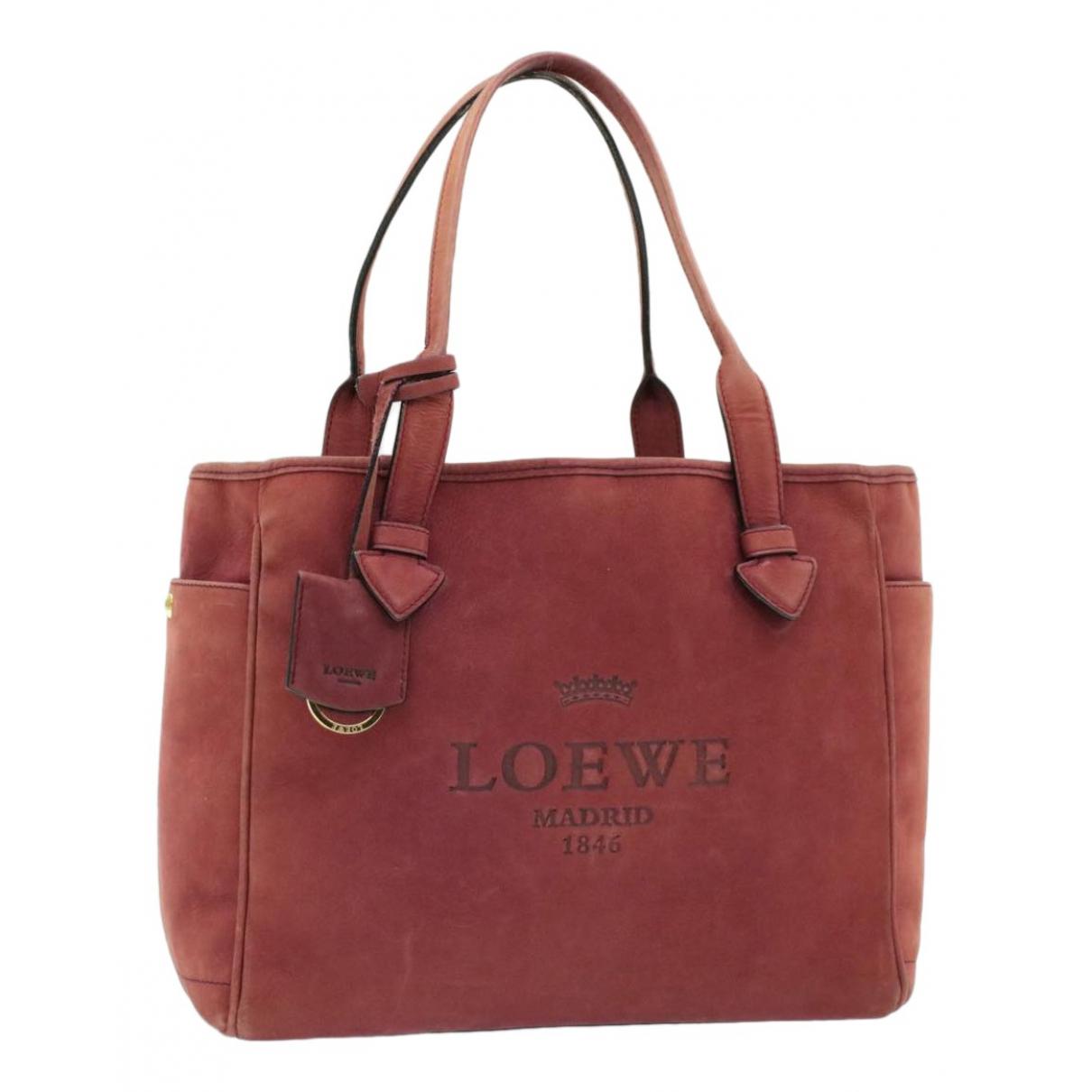 Loewe - Sac a main   pour femme en suede - rouge