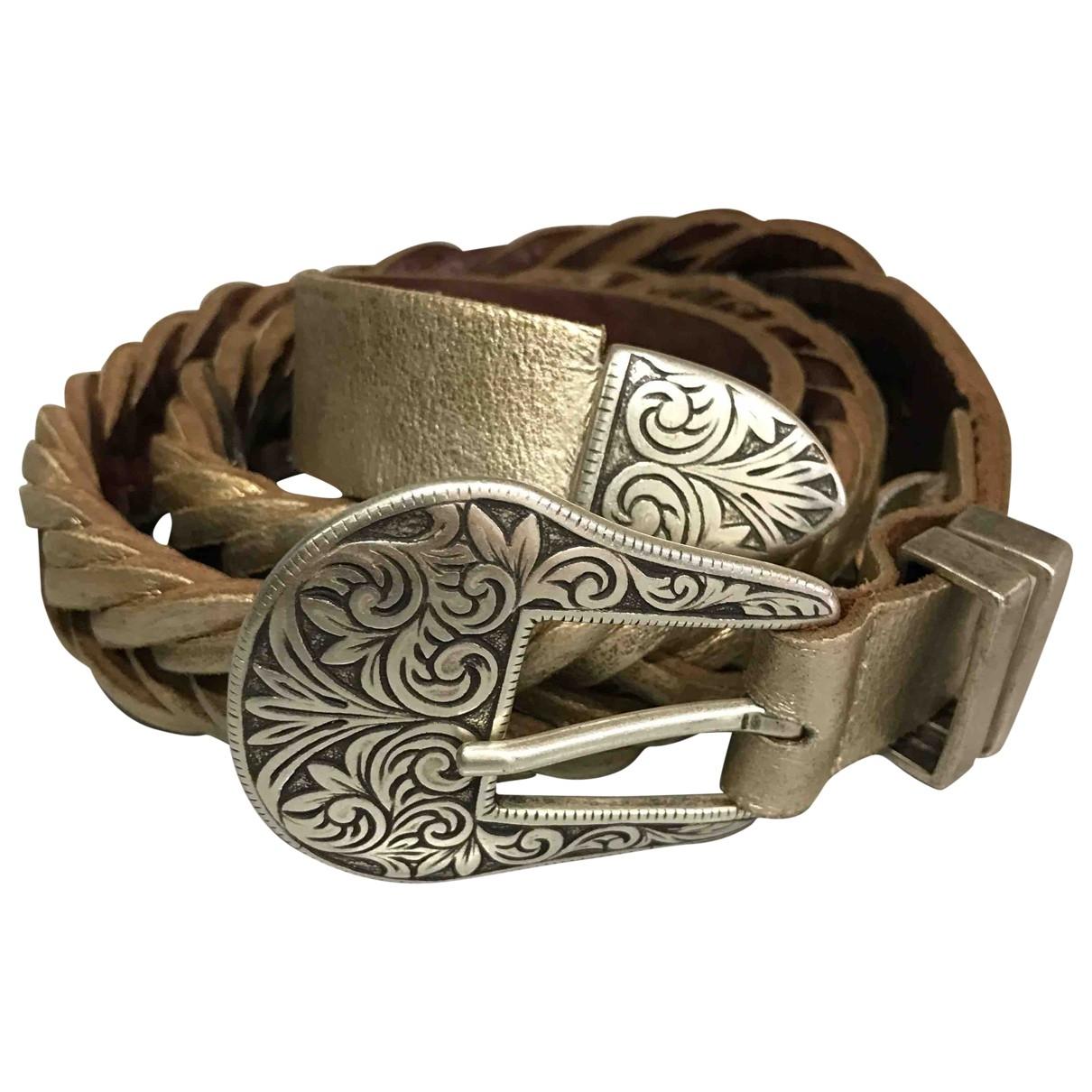 Golden Goose \N Gold Leather belt for Women 85 cm