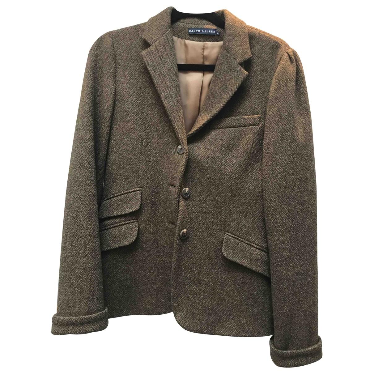 Ralph Lauren \N Jacke in  Braun Tweed