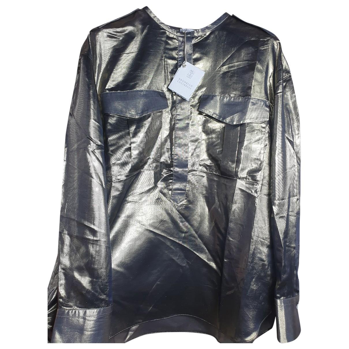 Brunello Cucinelli \N Gold Silk  top for Women M International
