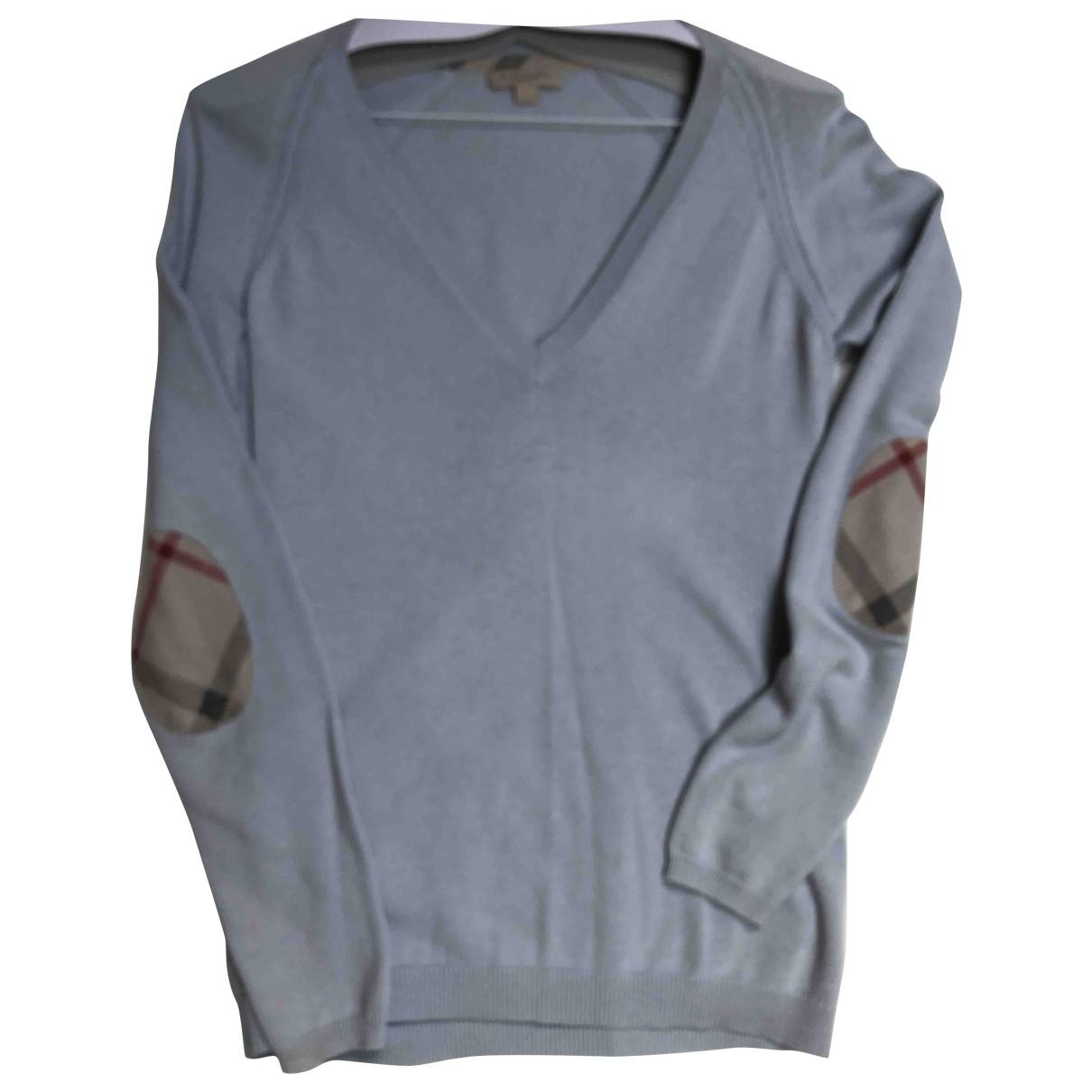 Burberry \N Blue Cotton Knitwear for Women 8 UK