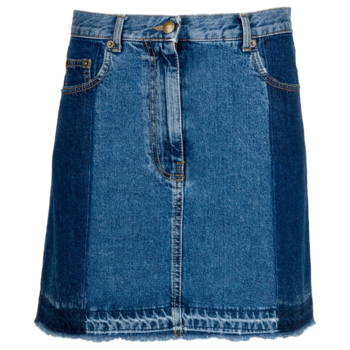 Alexander Mcqueen \N Blue Denim - Jeans skirt for Women 10 UK