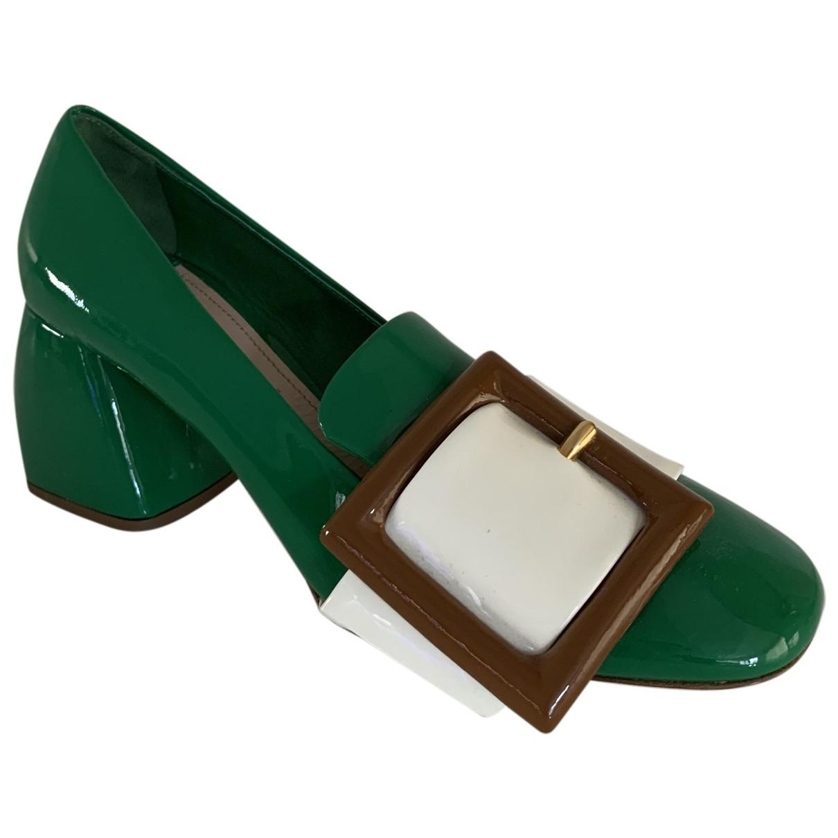Miu Miu - Escarpins   pour femme en cuir verni - vert
