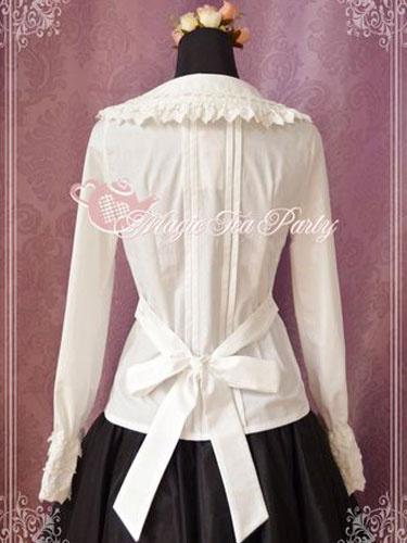 Milanoo Elegant Bow Pure Cotton Lolita Blouse