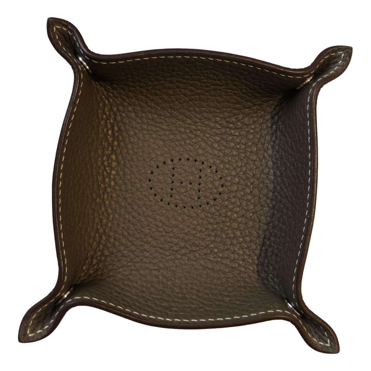 Hermes - Objets & Deco   pour lifestyle en cuir - gris
