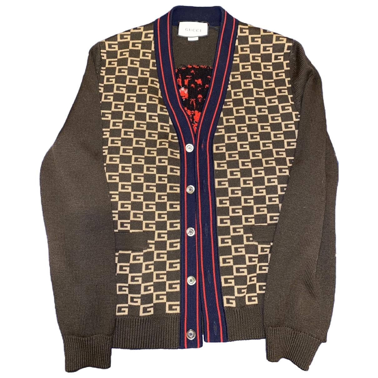 Gucci - Pulls.Gilets.Sweats   pour homme en laine - marron
