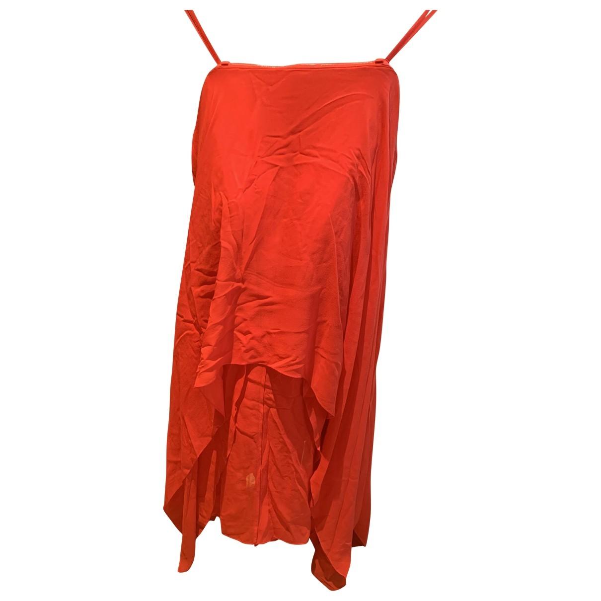 Bcbg Max Azria - Robe   pour femme en soie - rouge