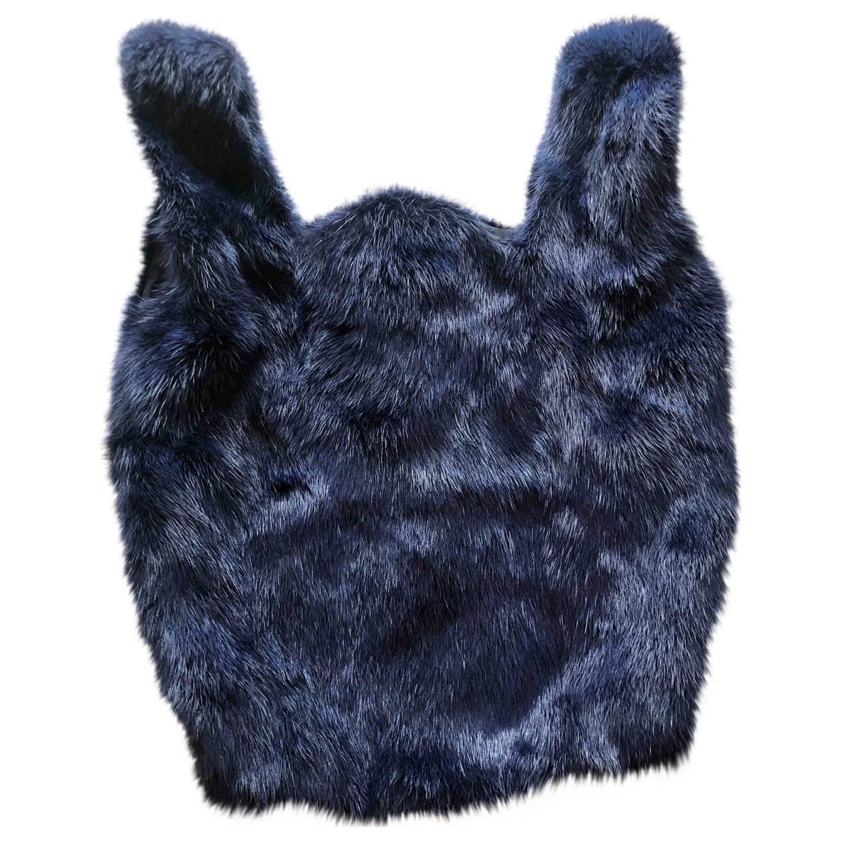 Simonetta Ravizza \N Blue Mink handbag for Women \N