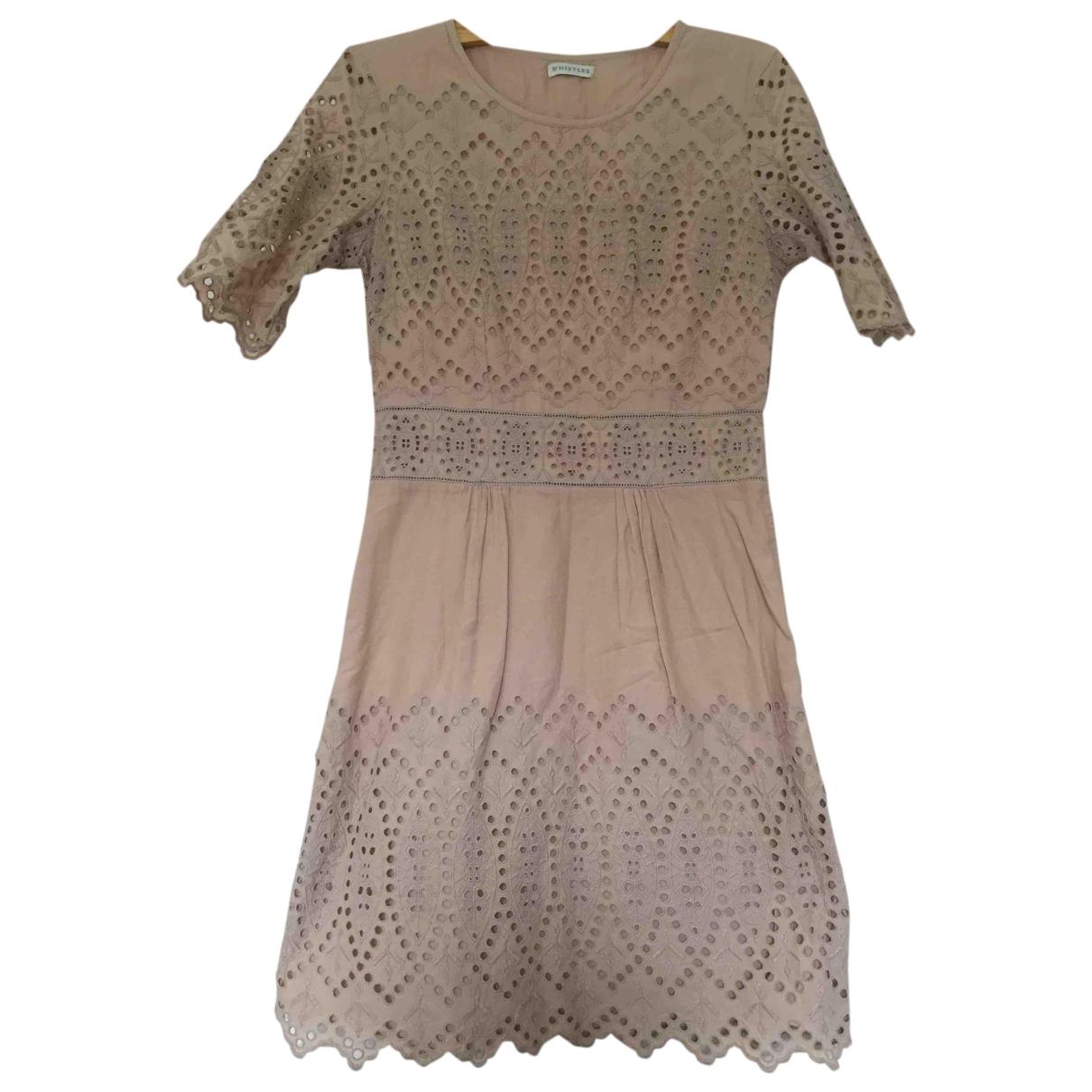 Whistles \N Kleid in  Beige Baumwolle