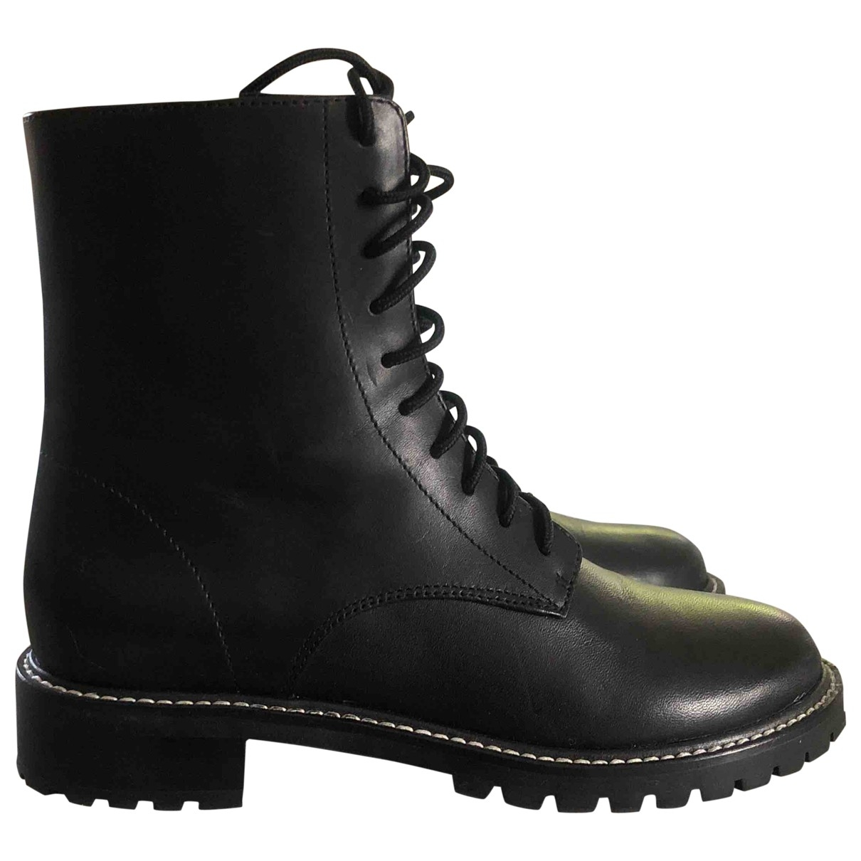 Reformation \N Black Leather Boots for Women 6 US