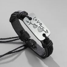 Maenner minimalistisches Armband mit Seil Detail