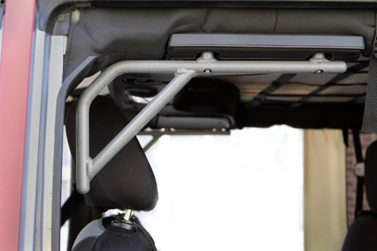 Steinjager J0041350 Grab Handle Kit Wrangler JK 2007-2018 Rigid Design Rear for 4 Door JKU Gray Hammertone