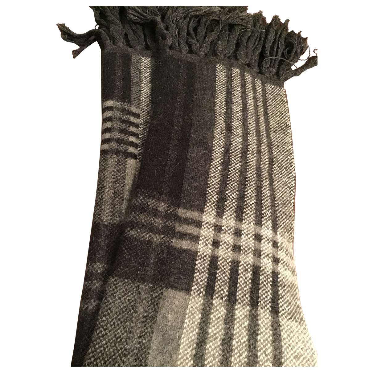 Mulberry \N Black Wool scarf for Women \N