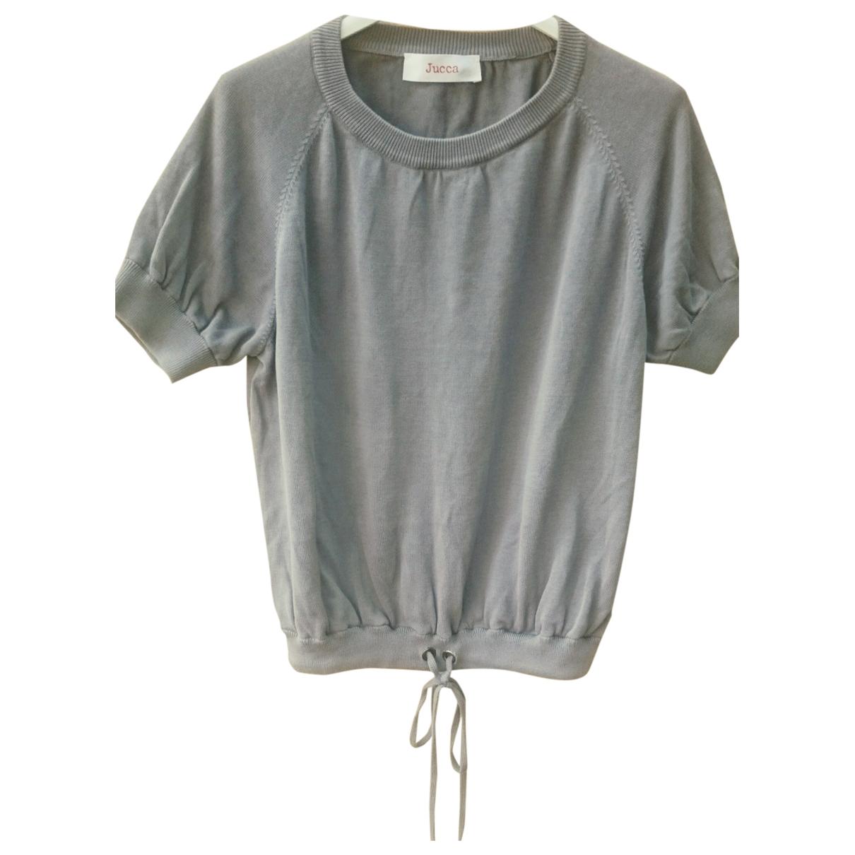 Jucca - Top   pour femme en coton - gris