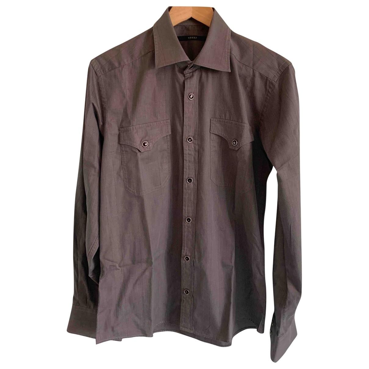 Gucci \N Hemden in  Grau Baumwolle
