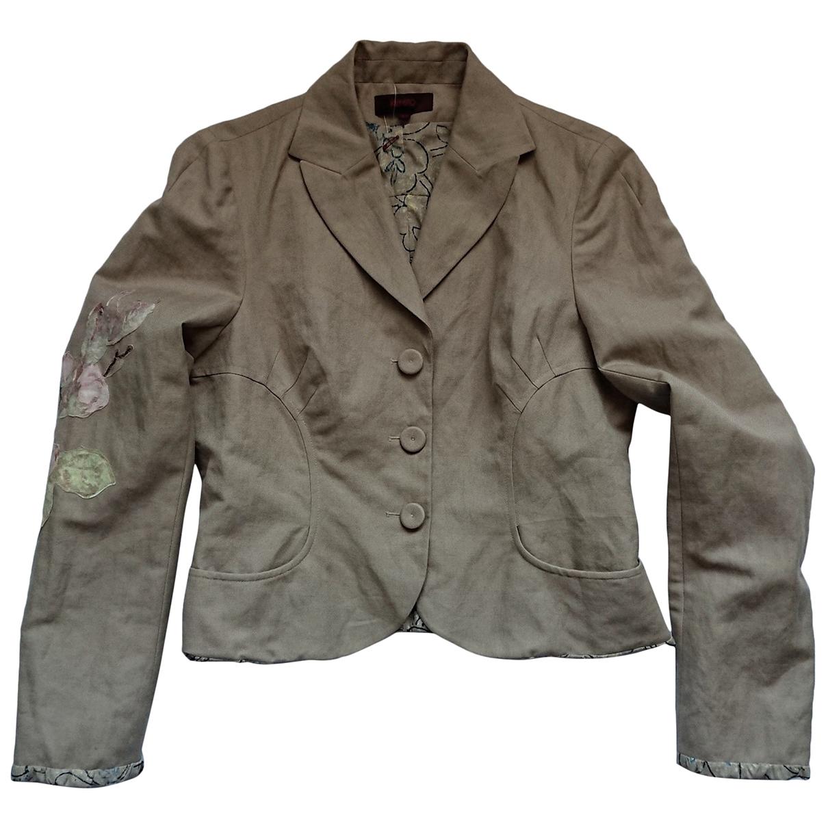 Kenzo \N Beige Linen jacket for Women 42 FR