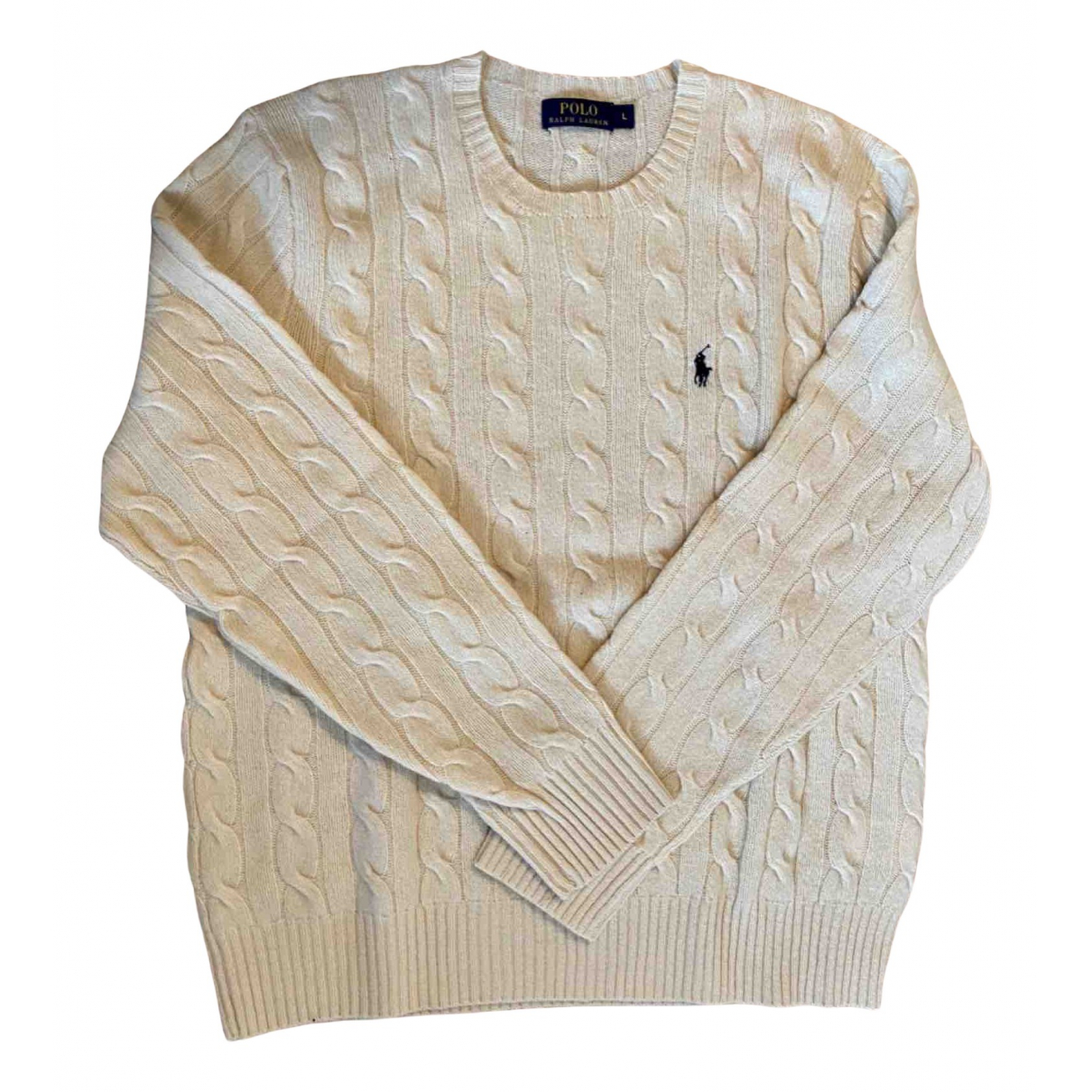 Polo Ralph Lauren \N Pullover.Westen.Sweatshirts  in  Weiss Wolle