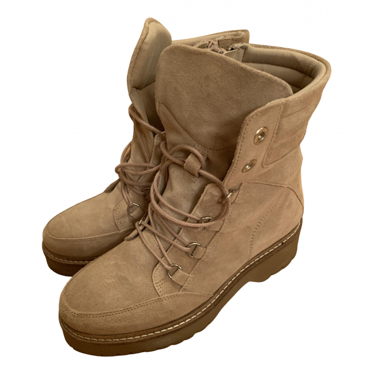 Edited \N Beige Suede Boots for Women 38 EU