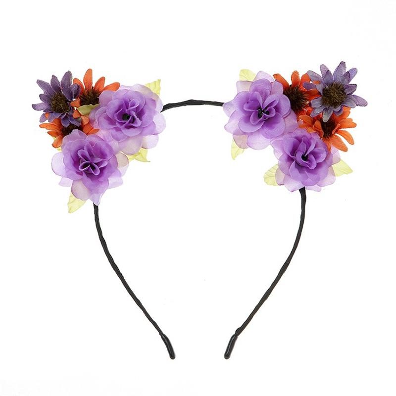 Fresh Roses and Helianthus Fresh Style Headband