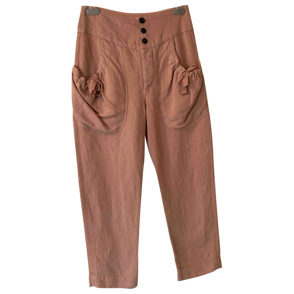 Isabel Marant Etoile \N Pink Cotton Trousers for Women 36 FR