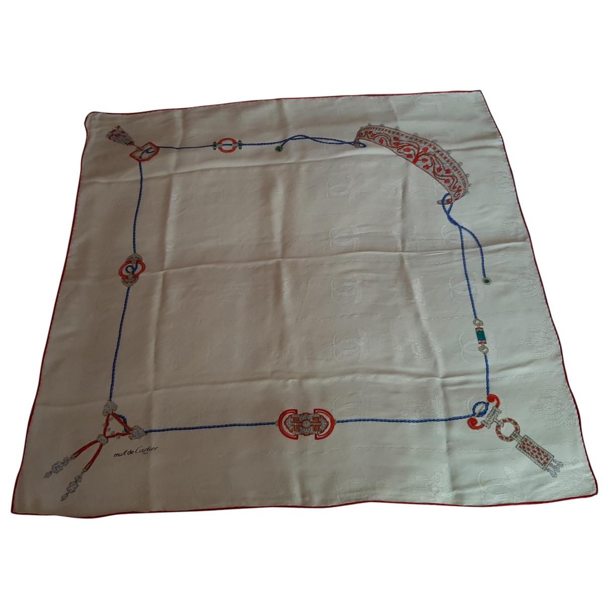 Cartier \N Ecru Silk Silk handkerchief for Women \N