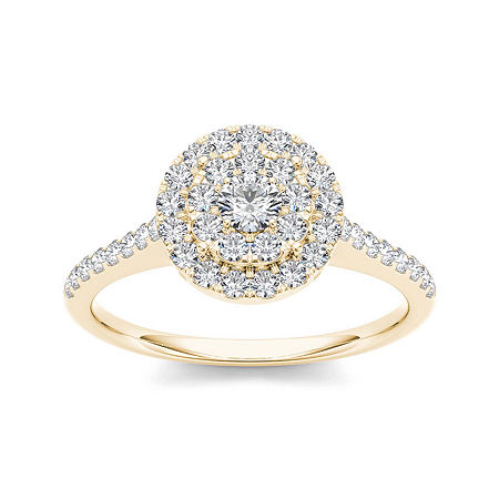 3/4 CT. T.W. Diamond 10K Yellow Gold Engagement Ring, 6 , No Color Family