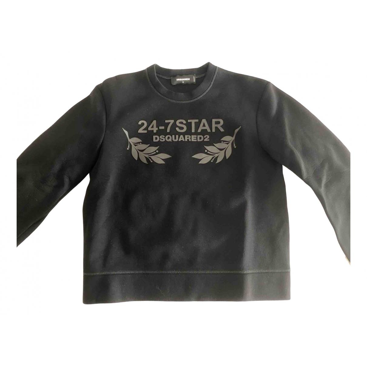 Dsquared2 \N Pullover.Westen.Sweatshirts  in  Schwarz Viskose