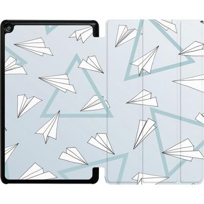 Amazon Fire HD 8 (2017) Tablet Smart Case - Paper Planes Blue von Barlena